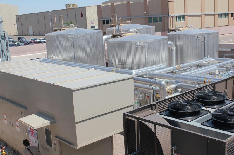 Natural Gas Generator and the Heat Storage at Mesa del Sol