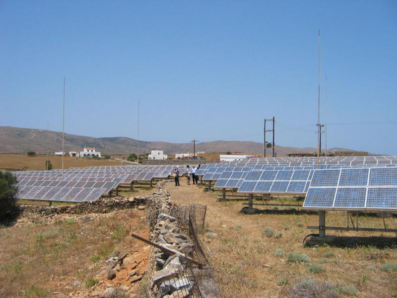 Kythnos Central Station PV Arrays